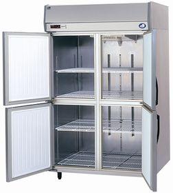 パナソニック(旧サンヨー)縦型インバーター冷蔵庫型式:SRR-K1281B(旧SRR-K1281A)寸法:幅1200mm 奥行800mm 高さ1950mm送料:無料 (メーカーより)直送保証:メーカー保証付