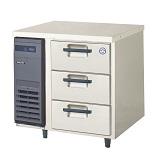 フクシマガリレイ3段ドロワータイプ冷凍庫型式:LDW-083FM(旧YDW-083FM2)寸法:幅755mm 奥行750mm 高さ800mm送料:無料 (メーカーより)直送保証:メーカー保証付受注生産品