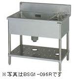 マルゼン一槽ゴミ入付シンク(バックガードあり)型式:BSG1-126R寸法:幅1200m 奥行600mm 高さ800mm送料:無料 (メーカーより)直送保証:メーカー保証付