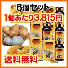 クルクミンをはじめ、精油成分・ミネラルも含んだサプリメント特濃ウコン 6個セット(1個280粒入)【送料無料・代引き手数料無料】