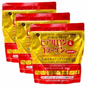 ファイン ヒアルロン&コラーゲン+還元型CoQ10袋タイプ(3袋セット) 同梱区分J