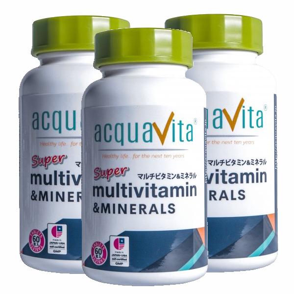 アクアヴィータ スーパーマルチビタミン&ミネラル(アクアビータ・Acquavita)(3本セット) 同梱区分J 送料無料(沖縄・離島・北海道を除く)