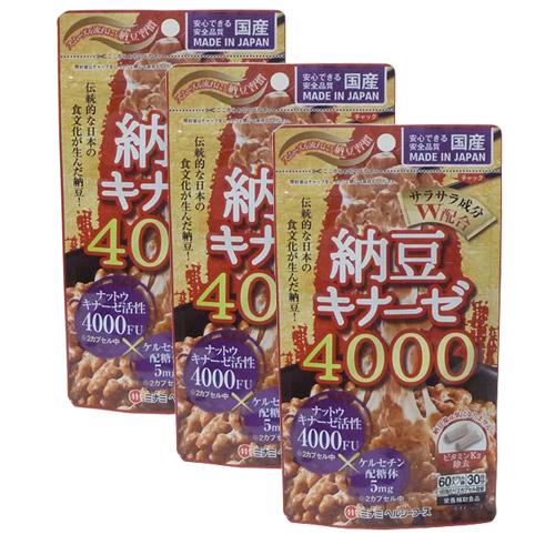 納豆キナーゼ4000(3セット) ミナミヘルシーフーズ 同梱区分J