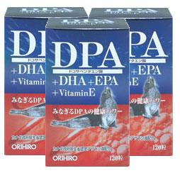 オリヒロ DPA+EPAカプセル 120粒【3本セット】:(サプリメント)竪琴アザラシ抽出油4粒中に800mg配合!【同梱区分J】
