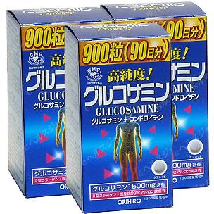 オリヒロ 高純度グルコサミン粒徳用(3本セット) 同梱区分J