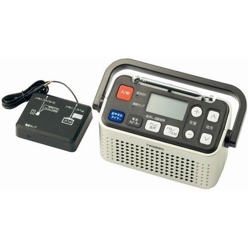 ツインバード 3バンドラジオ付ワイヤレス手元スピーカー AV-J135G シャンパンゴールド/TWINBIRD(ツインバード) 同梱区分J