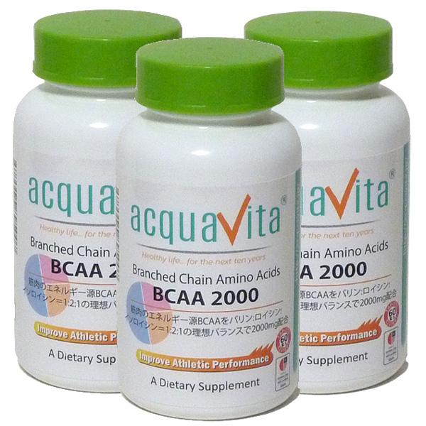 アクアヴィータ BCAA2000【3本セット】【同梱区分J】