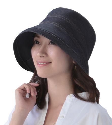 国産岡山児島デニムのおでかけ帽子 インディゴ