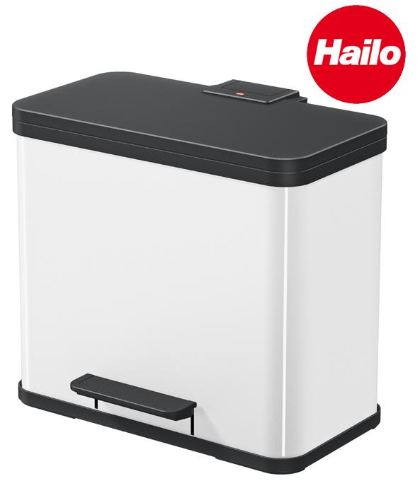 Hailoハイロ ペダルビンエコ デュオ 26(9L+17L)ホワイト 60104