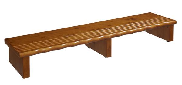天然木玄関台120
