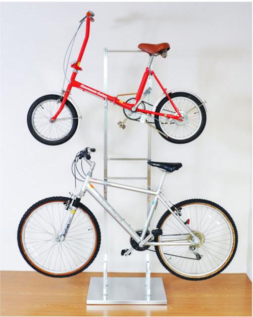 1530 室内自転車スタンド2段(2台用) ※ブラウン・シルバー10月下旬頃入荷予定 予約受付中!