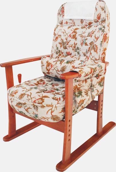 肘付き高座椅子 ベージュフラワー 83-884