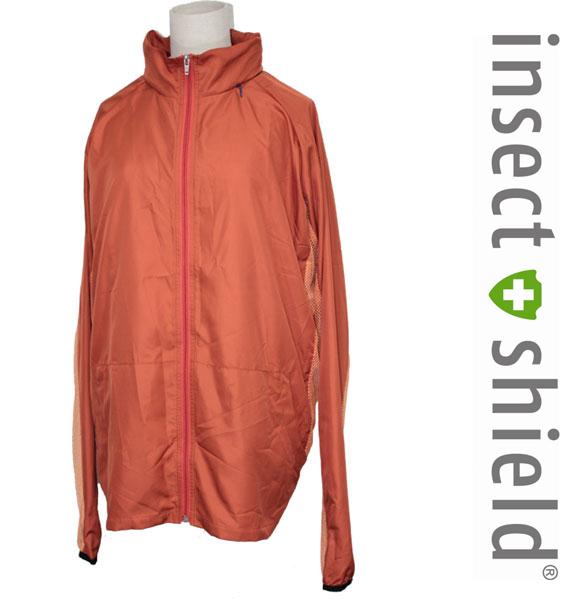 insect shield【インセクトシールド】ファンタスティック虫よけUVジャケット オレンジ 男女兼用【DM便かレターパックでお届け】【代引・日時指定不可】