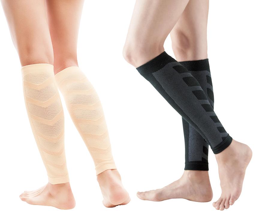 代引き不可 医学に基いた2段階の圧力設計で血行促進 アウトレット 脚のむくみ軽減 ムクナイトふくらはぎサポーター