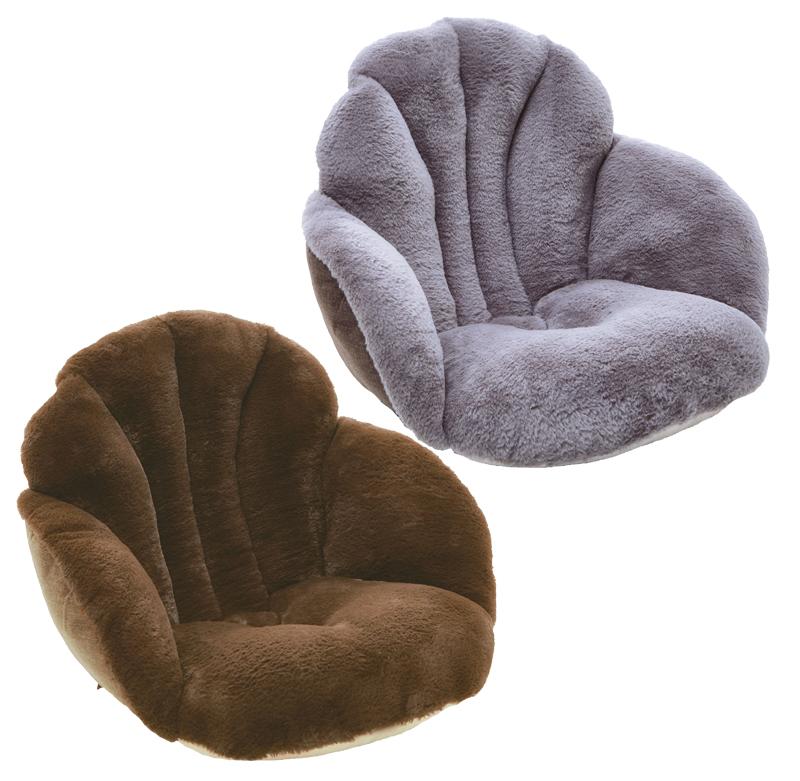 腰と背中を包む座れるとろりんファー毛布 【腰と背中を包む座れる毛布】