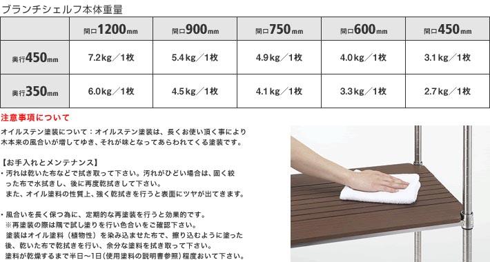 ホームエレクター Home erecta 間口1200mm×奥行350mmブランチシェルフ:ダークブラウン H1448BB1 【全品】エレクター