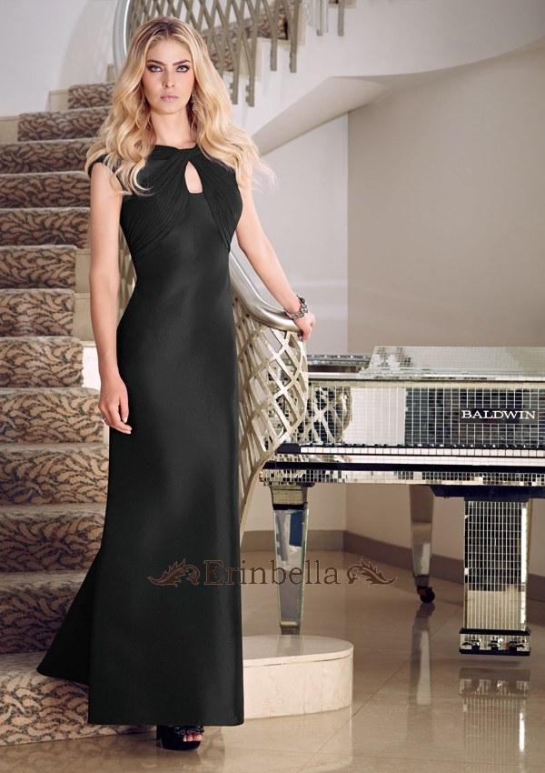 サイズオーダー!パーティードレス 結婚式 披露宴 二次会 お呼ばれ ワンピース オーダードレス 黒 ブラック カラードレス ロングドレス イブニングドレス 70723