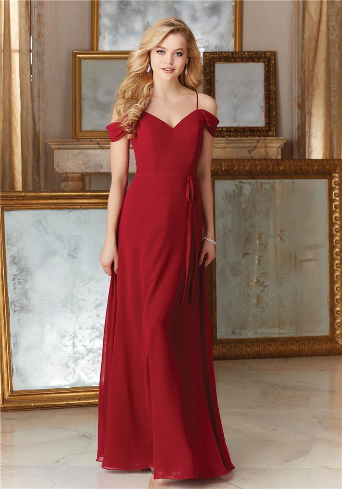パーティードレス カラードレス ワンピース イブニングドレス ロング オフショルダー スレンダー 肩紐 セミオーダー