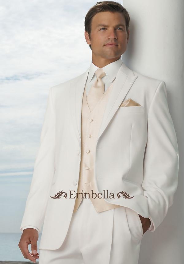 Tuxedo Ivory Suit Wedding Tailored Formal Et0056