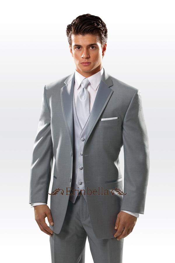 タキシード グレー スーツ 結婚式 オーダーメイド フォーマル (ET0057)