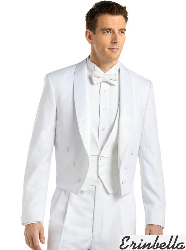 タキシード テールコート ホワイト 白 結婚式 オーダーメイド フォーマル (ET0063)