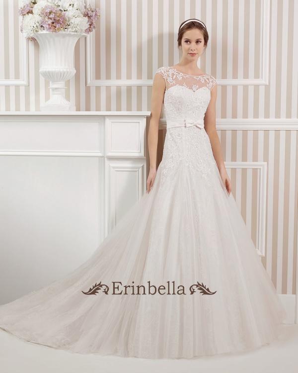 ウェディングドレス ウェディングドレス サイズオーダー リボン(TW0602)