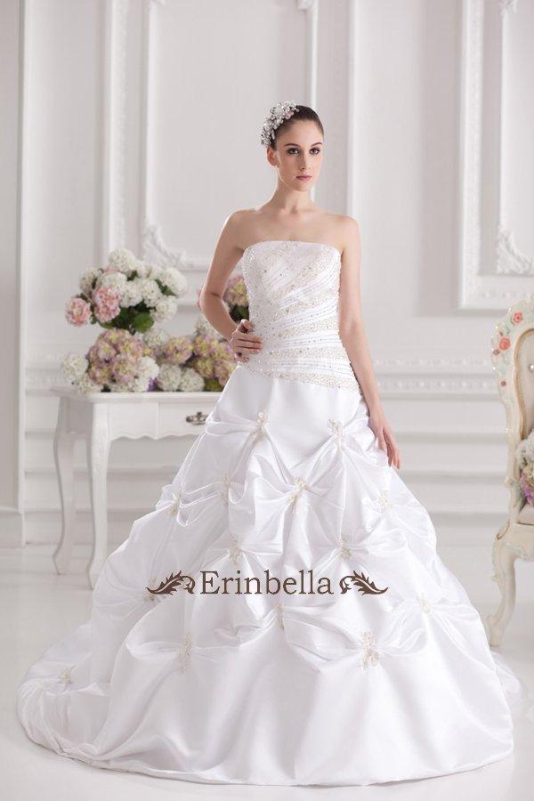 【送料無料】ウェディングドレス Aライン プリンセス スレンダー マーメイド エンパイア 結婚式 披露宴 二次会 ロングトレーン ウェディングドレス_サイズオーダー (TW0781)