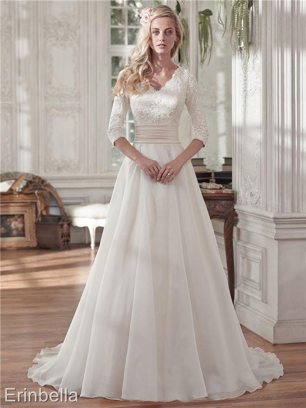 ウェディングドレス ウェディングドレス Aライン ロングスリーブ TW1656
