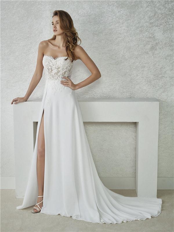ウェディングドレス シンプルドレス Aライン サイズオーダー