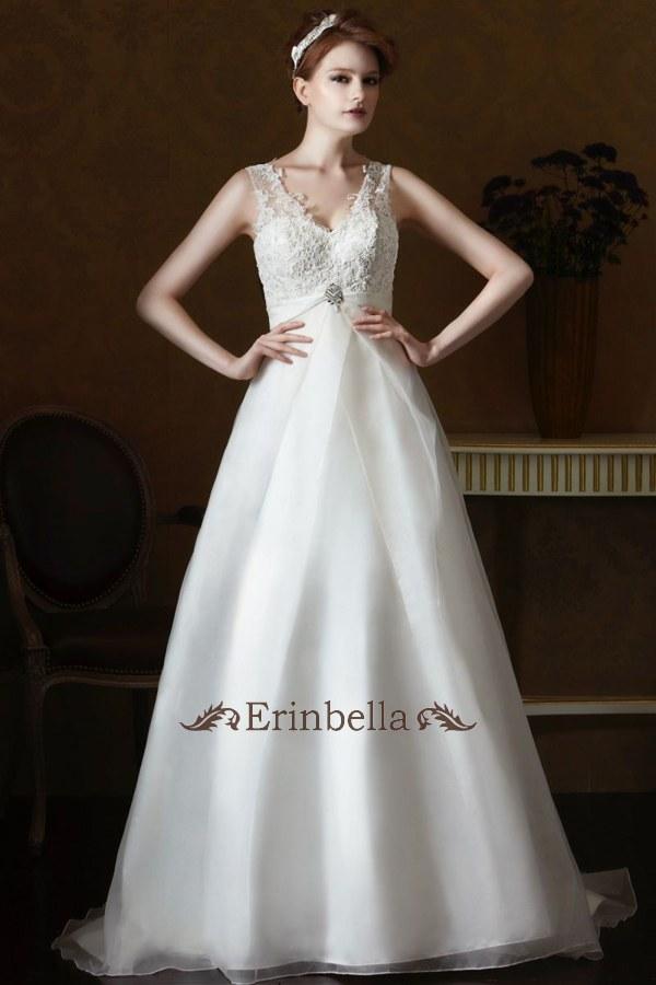 ウェディングドレス Aライン エンパイア マタニティ 大きいサイズ 結婚式 二次会 披露宴 GL056