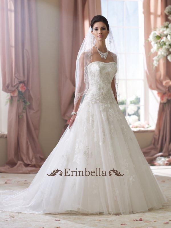 ウェディングドレス Aライン 花嫁 結婚式 二次会 披露宴 ベアトップ ビスチェ 114282