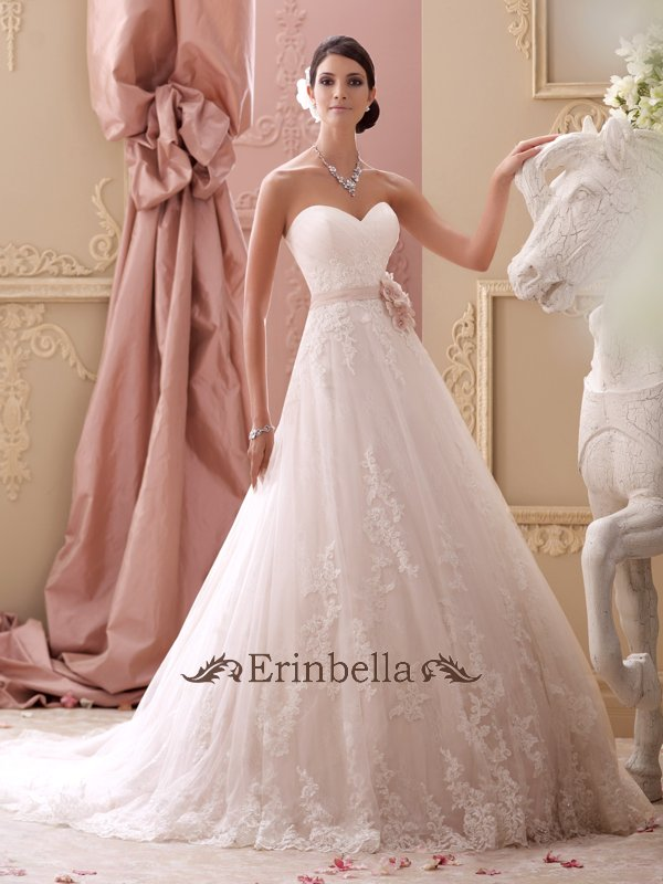 ウェディングドレス Aライン 花嫁 結婚式 二次会 披露宴 ブライダル 刺繍 ハートカット 115251