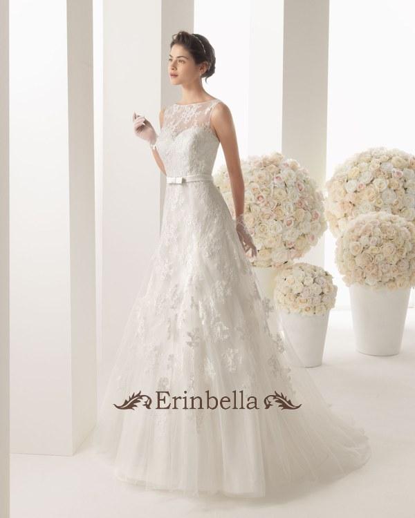ウェディングドレス Aライン リボン 結婚式 二次会 披露宴 ブライダル TW0239