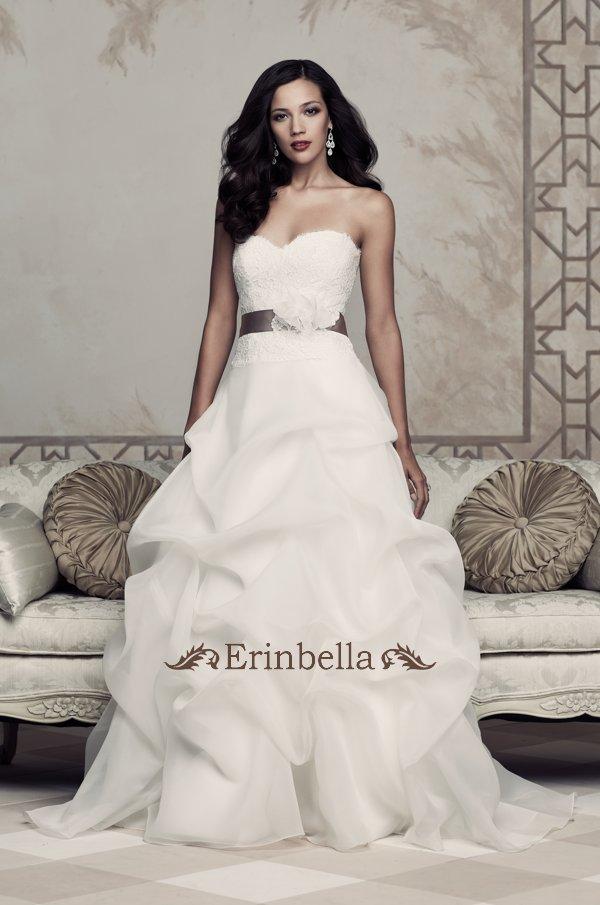 ウェディングドレス Aライン 花嫁 結婚式 二次会 披露宴 ウェストリボン TW0960