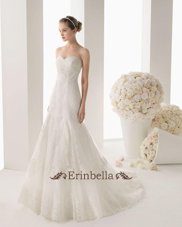 Erinbella Wedding Dress Mermaid Overseas Wedding Custom Made