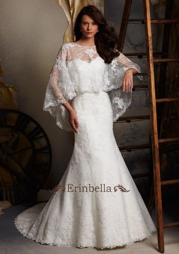 ウェディングドレス ウェディングドレス マーメイドライン 編み上げ式 (5113)