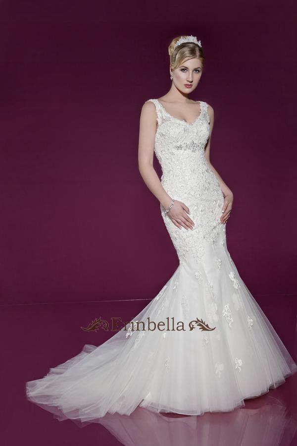 ウェディングドレス マーメイドライン マーメイド Vカット (TW0190)