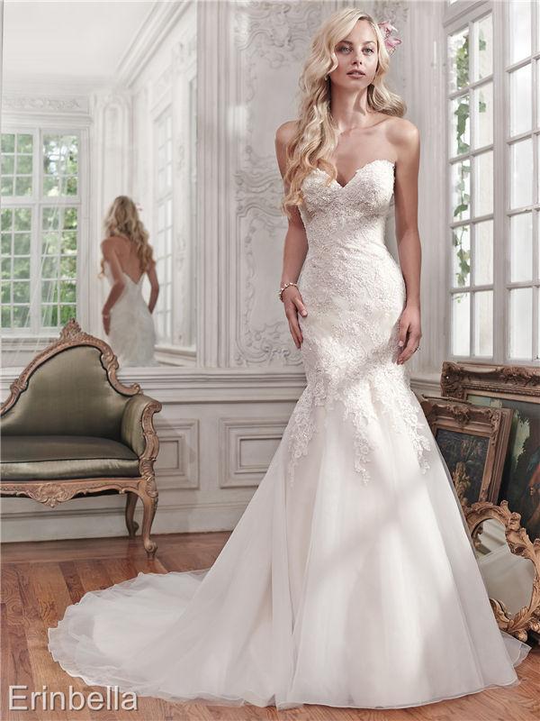 ウェディングドレス マーメイドライン マーメイド ロングドレス TW1666
