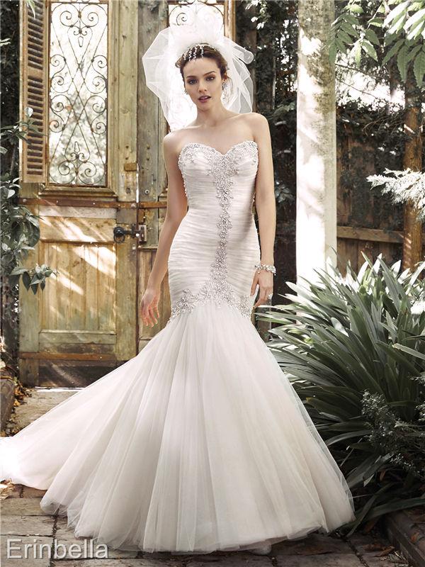 ウェディングドレス マーメイドライン マーメイド ロングドレス TW1699