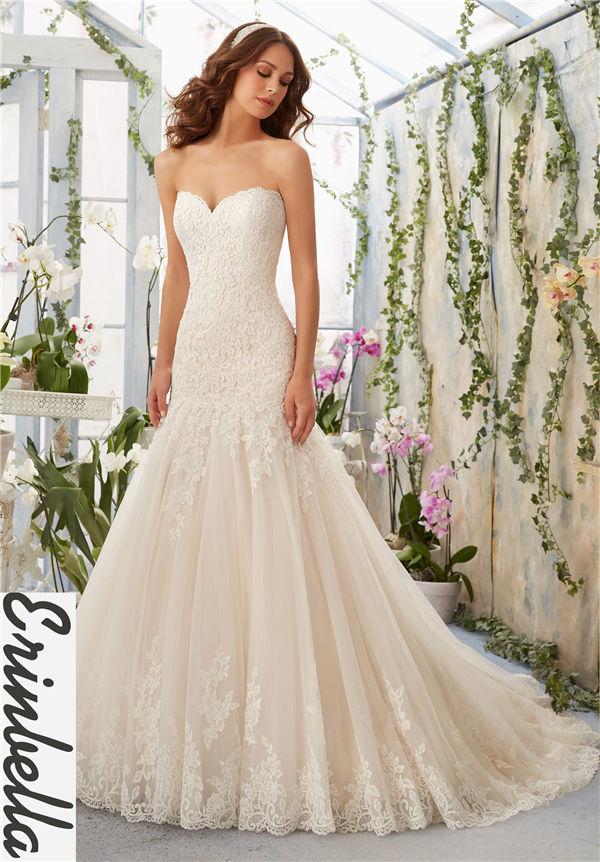 ウェディングドレス マーメイドライン マーメイド ロングドレス TW1533