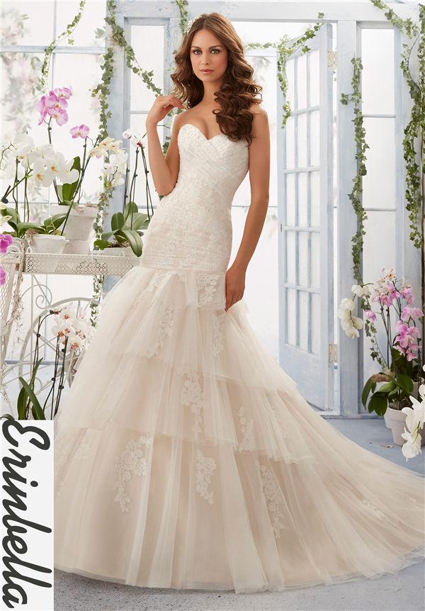 ウェディングドレス マーメイドライン ソフトマーメイド ロングドレス TW1536