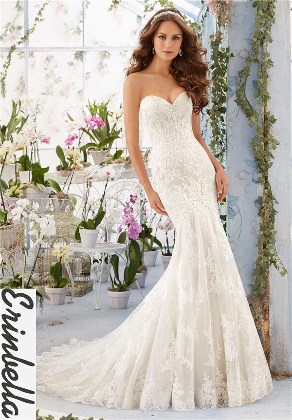 ウェディングドレス マーメイドライン マーメイド ロングドレス TW1544
