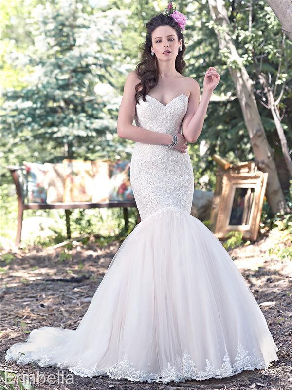 ウェディングドレス マーメイドライン マーメイド ロングドレス TW1649