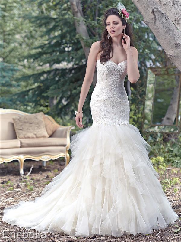 ウェディングドレス マーメイドライン マーメイド ロングドレス TW1650