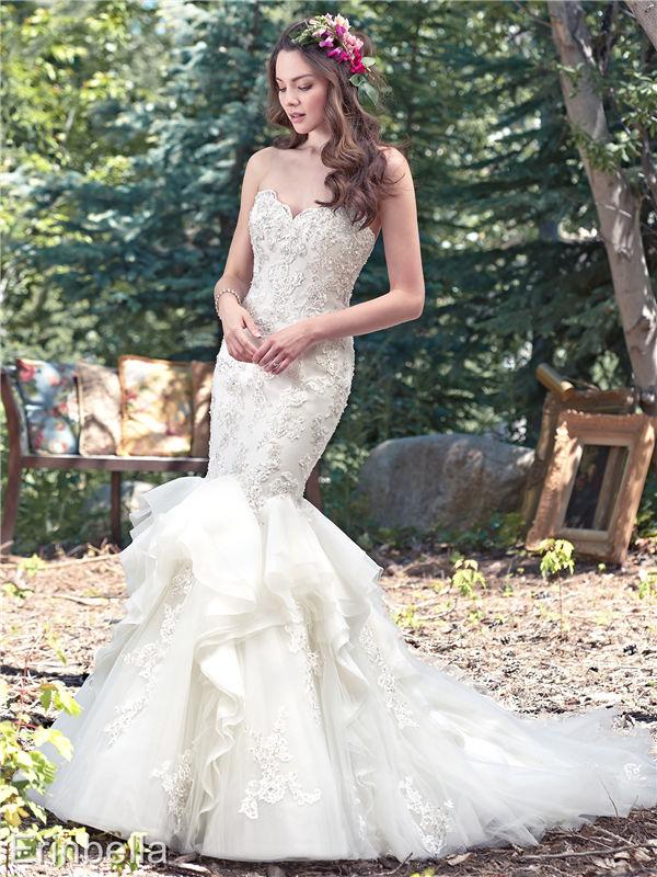 ウェディングドレス マーメイドライン マーメイド ロングドレス TW1678