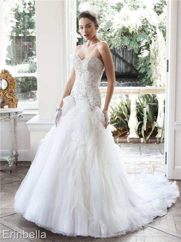 ウェディングドレス マーメイドライン マーメイド ロングドレス TW1692