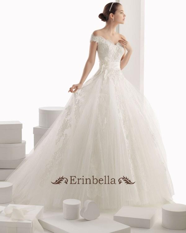 ウェディングドレス ウェディングドレス プリンセスライン オフショルダー TW0215