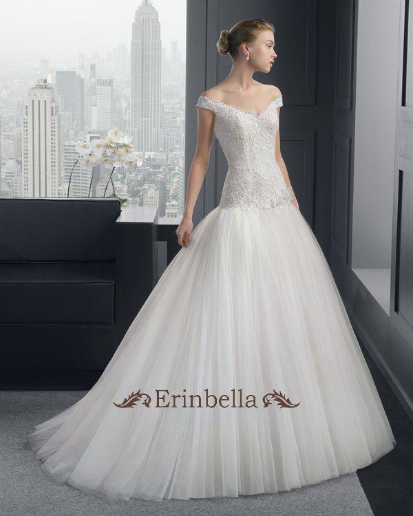 【サイズオーダー】ウェディングドレス プリンセスライン オフショルダー 花嫁 結婚式 二次会 披露宴 ブライダル TW0812