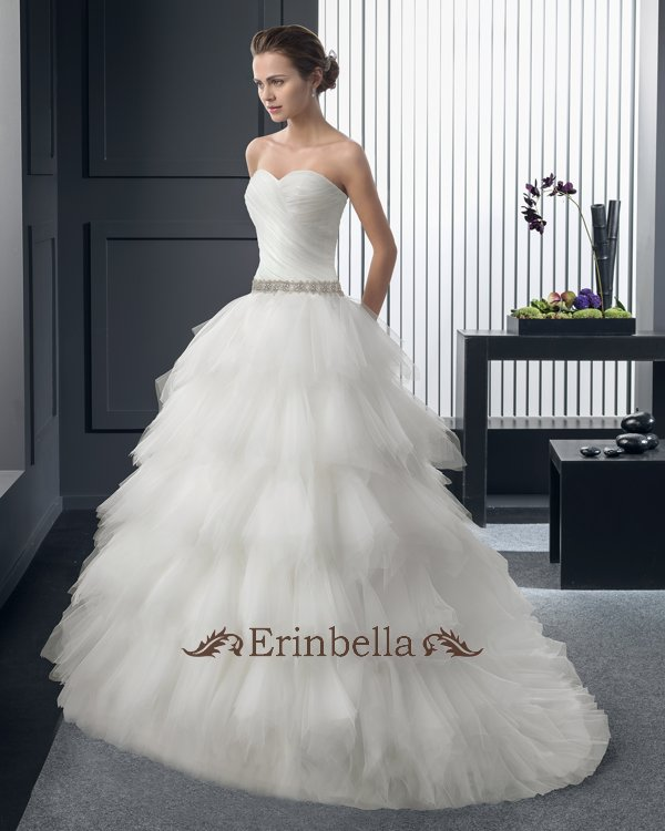 【編み上げタイプ】ウェディングドレス プリンセスライン 花嫁 結婚式 二次会 披露宴 ブライダル TW0872
