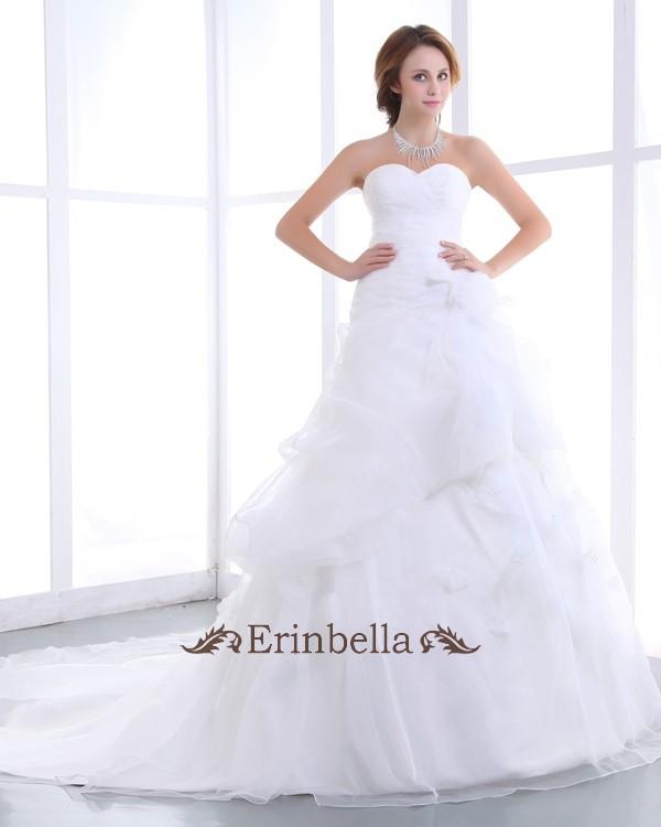 ウェディングドレス プリンセスライン ハートカット ハートネック (TW0741)